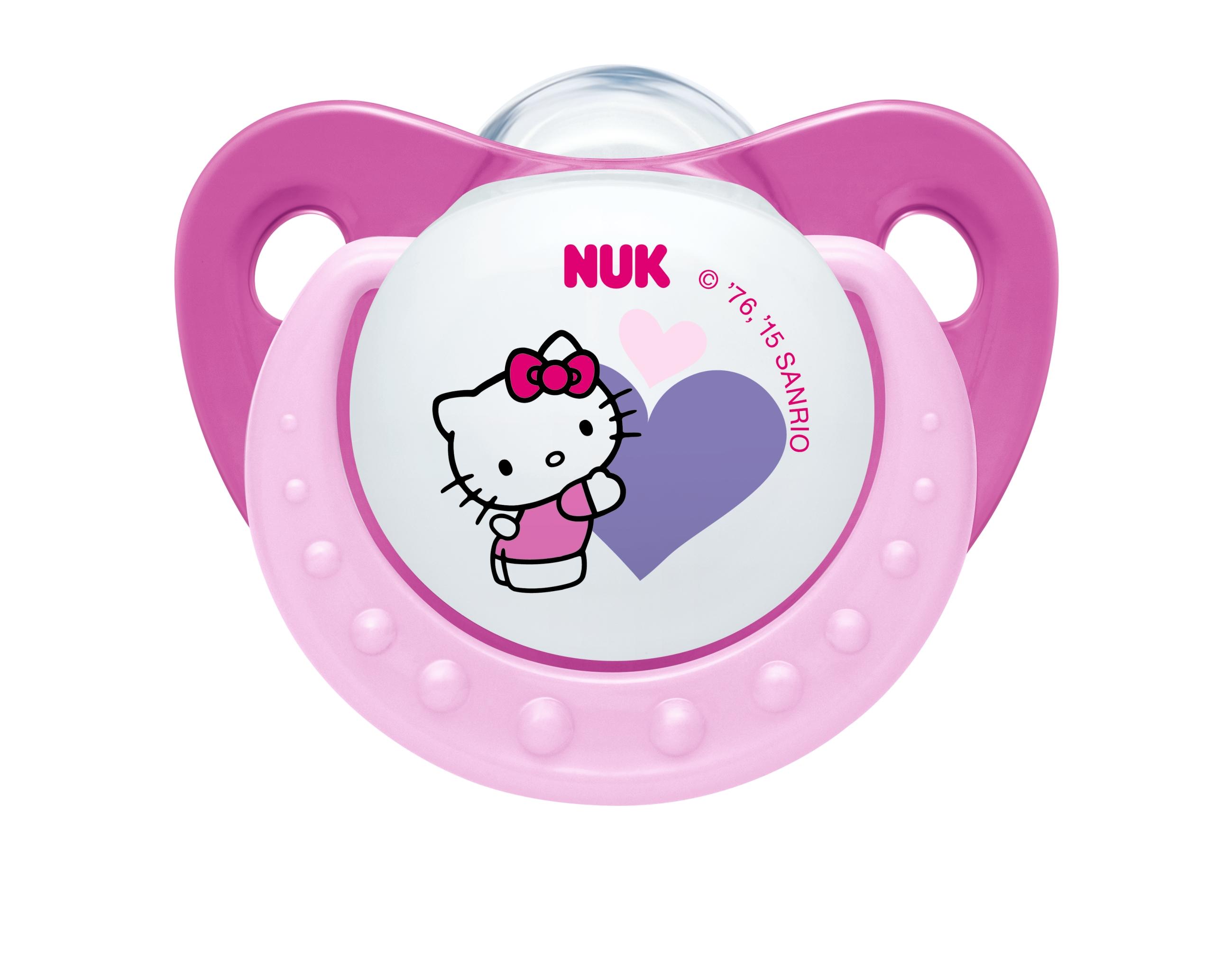 Hello Kitty Napp silikon 1-pack - 0-6 mån - NUK