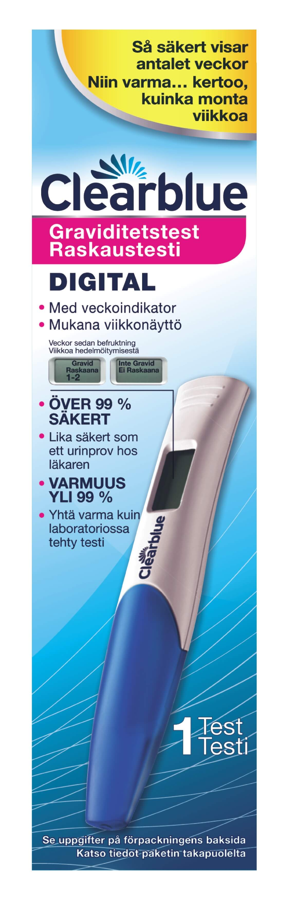 1-pack Clearblue Digitalt Graviditetstest med Veckoindikator