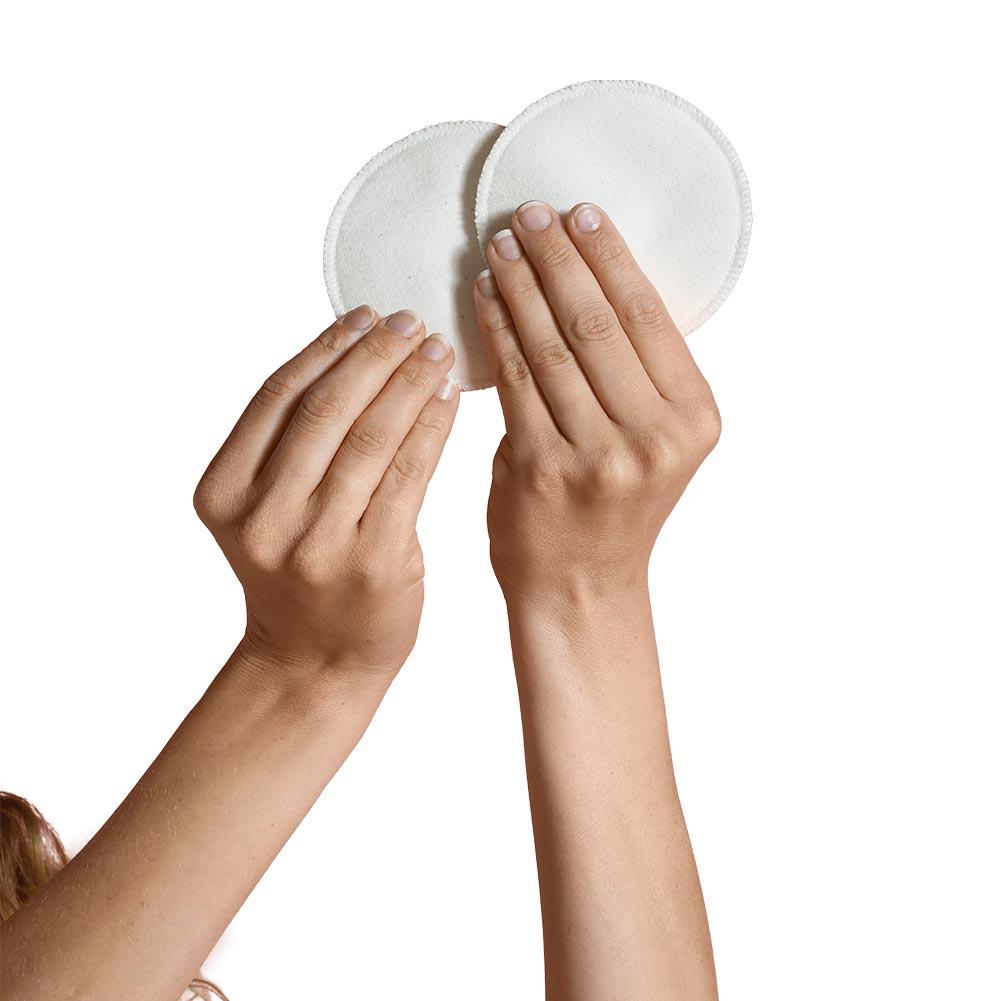 Vita tvättbara amningsinlägg 6-pack bomull - Carriwell