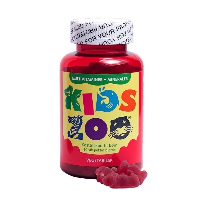 KidsZoo Multivitamin+Mineraler vegansk 60st